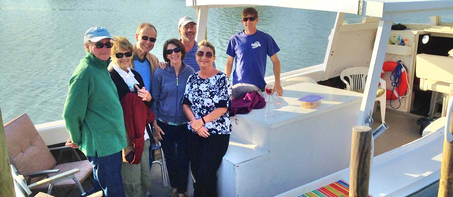 Chesapeake bay boat tour group