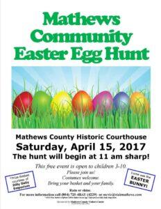 Mathews County Easter Egg Hunt