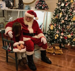 Santa at mathews visitor center