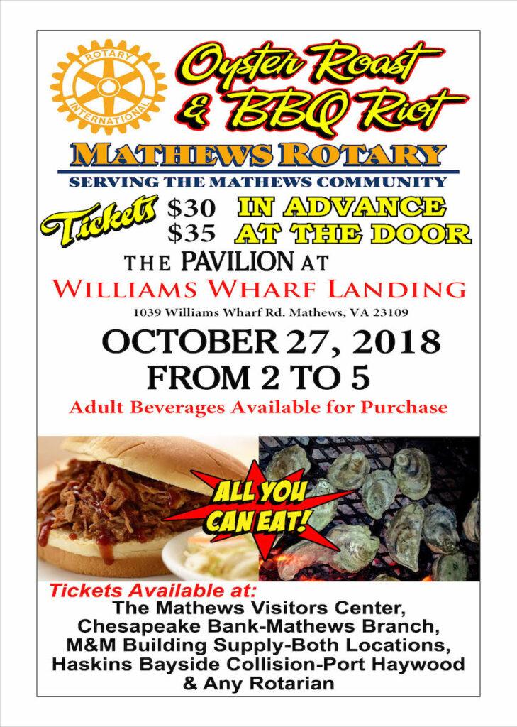 Fall Oyster Roast 2018 Mathews