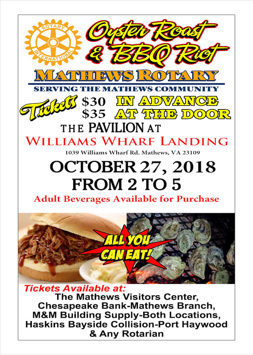 Fall Oyster Roast 2018 Mathews