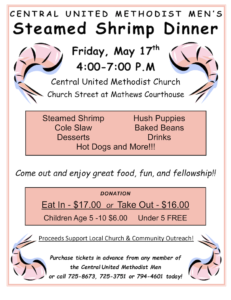 Central United Methodist Church Shrimp Dinner